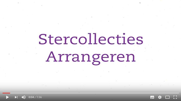 Instructievideo Stercollecties arrangeren
