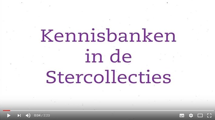 Instructiefilmpje Kennisbanken in de Stercollecties